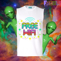 UNISEX Free WiFi Signal Rainbow 8Bit Pixelated by fASHLINdotcom