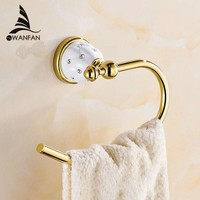 Modern Towel Ring Solid Brass Copper Golden Finished Bathroom Accessories Products ,Towel Holder,Towel Bar Free Shipping 5207