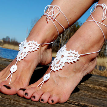 Crochet Barefoot Sandals, Beach Shoes, Wedding Accessories, Nude Shoes, Yoga socks, Foot Jewelry