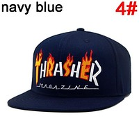 Thrasher New fashion embroidery flame letter couple cap hat 4#