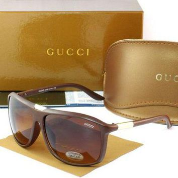 Gucci Stylish Women Men Casual Sun Shades Eyeglasses Glasses Coffee Frame I