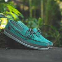 Ronnie Fieg by Sebago Schooner - Mint / Grey | 7 Shoes | Ronnie Fieg x Sebago