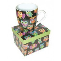 Ceramic Mug - Black Owls - Drinkware   |  Shop Glitzy Glam