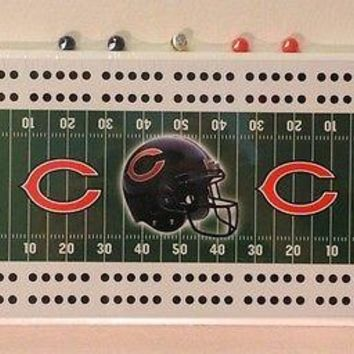 Chicago Bears NFL Football Cribbage Board