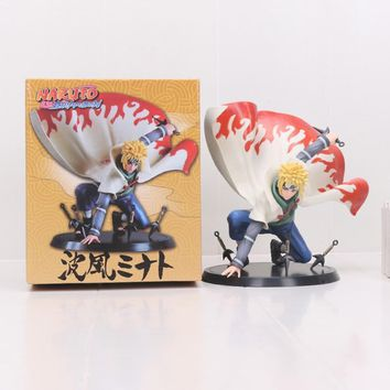 Naruto Sasauke ninja Brinquedos Anime figurals  Namikaze Minato Action Figure 1/8 scale painted figure 's Father PVC figure Toy AT_81_8
