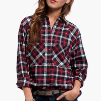 Gingham Button Front Shirt $40