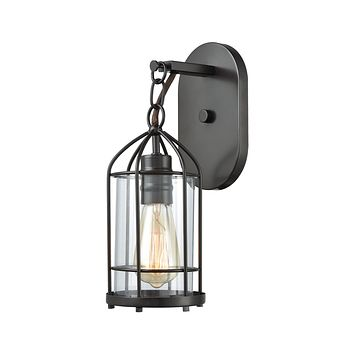 Southwick 1-Light Vanity Lamp in Oil Rubbed Bronze with Clear Blown Glass