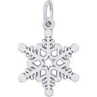 Rembrandt Snowflake Charm, Sterling Silver