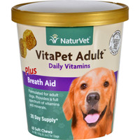 Naturvet Vitapet - Plus Breath Aid - Dog - Adult - Cup - 60 Soft Chews