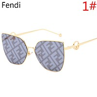 Fendi Fashion New More Letter Sunscreen Leisure Glasses Eyeglasses Women