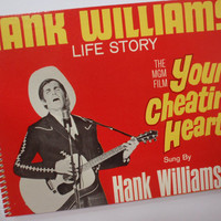 Notebook YOUR CHEATING HEART vintage journal record  Made from an actual record cover Hank Williams