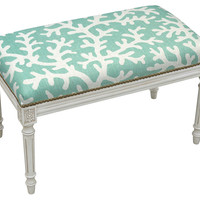 Marika Bench, Aqua, Bedroom Bench
