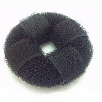 DIY Lady Headwear Hair Accessories Pure Knitted Hair Bun Ring Hair Donut Sponge Hair Styling Tool SM6