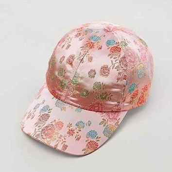 Floral Satin Baseball Hat - Urban Outfitters