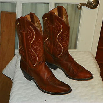 Justin Golden Saltillo Womens Brown Leather Western Boots style L4936 Size 8.5 C