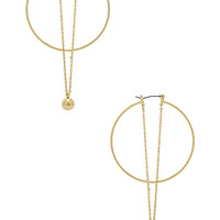 Rebecca Minkoff Ball And Chain Hoops in Gold | REVOLVE