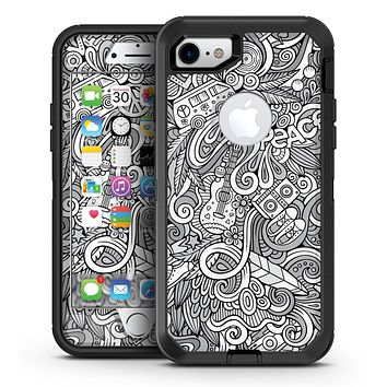 Hippie Dippie Doodles - iPhone 7 or 7 Plus OtterBox Defender Case Skin Decal Kit