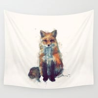 Fox Wall Tapestry by Amy Hamilton