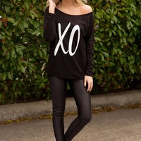 XO SWEATSHIRT - BLACK