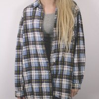 Vintage Button Up Flannel Lined Jacket