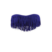 Dolly Blue Iris Fringe Bandeau