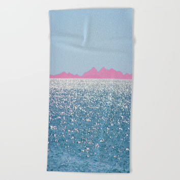i Sea you Beach Towel by Azima