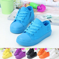 Casual Style Low Children Canvas Shoes Girls Boys