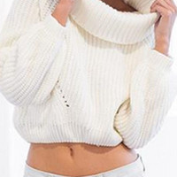Telly Tricot Turtle Neck Sweater