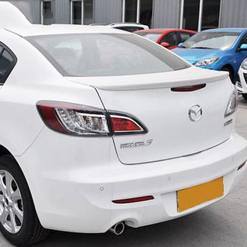 Car Accessories For Mazda 3 4Doors Sedan 2011-2016 ABS Plastic Unpainted Primer Tail Trunk Wing Rear Spoiler Auto Decoration