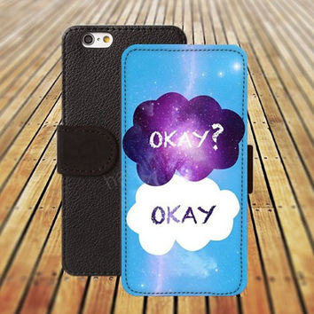 okay case iphone 5/ 5s iphone 4/ 4s iPhone 6 6 Plus iphone 5C Wallet Case , iPhone 5 Case, Cover, Cases colorful pattern L049