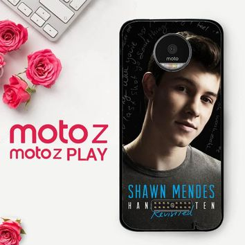 Shawn Mendes Handwritten Revisited X3393  Motorola Moto Z Play Case