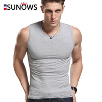 Men's Tank Tops Fashion 100% Cotton Brand Sleeveless Undershirts For Male Bodybuilding Tank Tops White Casual Summer Vest