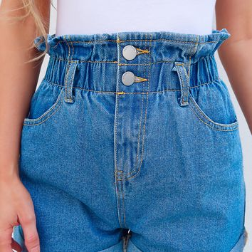End Of Time Shorts: Denim