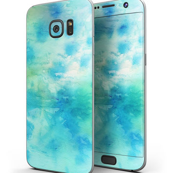 Washed 08242 Absorbed Watercolor Texture - Full Body Skin-Kit for the Samsung Galaxy S7 or S7 Edge