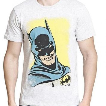 Batman Hero We Need Cream Half Sleeve Men T-Shirt