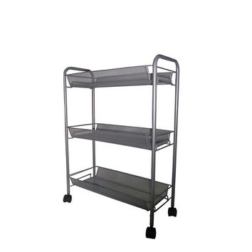 Room Essentials™ 3-Tier Rolling Mesh Basket Utility Cart - Grey
