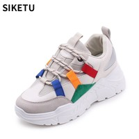 New Vintage Women Sneakers Trendy Leisure Platform Shoes Cross-tied Breathable Women Casual Vulcanize Shoes Zapatillas Mujer