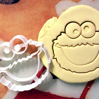 Cookie Monster Cookie Cutter great for cutting Bread, Cheese, Soft fruit and more Sesame Street