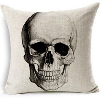 Colorful Skull Pillow Cases in Several Designs