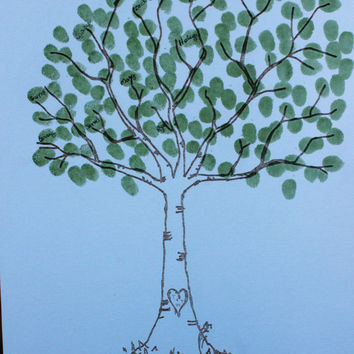 Thumbprint tree,  Wedding Tree Guest Book,  Wedding Guest Book, Engraved on Canvas the will fit  25-350 Fingerprints -  Many Sizes Available