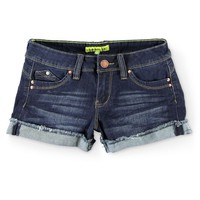 YMI Wanna Betta Butt Flap Pocket Dark Wash Denim Shorts