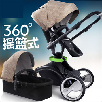 Landscape high strollers Baby stroller high Chair 3 In 1 folded four shock absorbers sit or lie strollers lightweight 360 degree