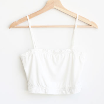 Zilla Crop Cami - White
