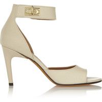 Givenchy - Shark Lock textured-leather sandals in cream