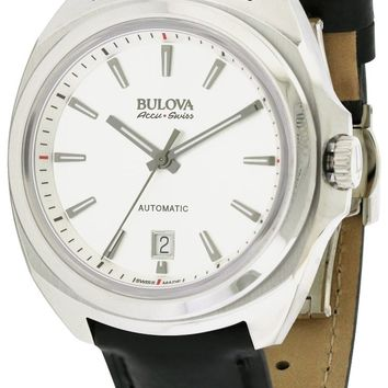 Bulova AccuSwiss Telc Automatic Leather Watch 63B184