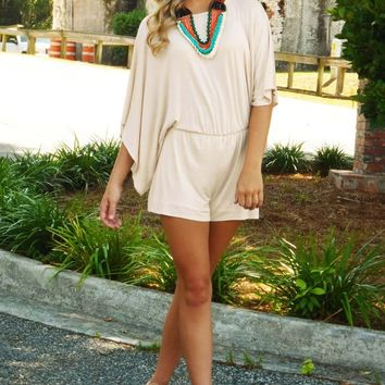 All In Your Mind Romper: Cream
