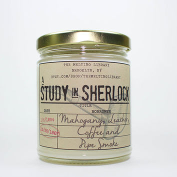 A Study in Sherlock - Sherlock Holmes Inspired Candle