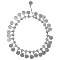 necklace Women Vintage Silver Coins Pendant Choker Chain Statement Bib Necklace Jewelry Gifts For Lady  SM6