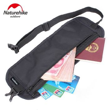 Naturehike Outdoor travel invisible purse thin running pocket mobile phone ID burglarproof Deluxe wallet card swimming bag