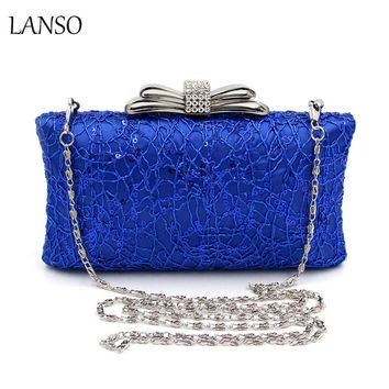 Famous Design Noble Vintage Beading Embroidery Bridal Clutches Evening Bags Women's Clutch Lace Female Clutch Lady Minaudiere